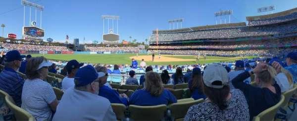 Dodger Stadium, secção: 29FD, fila: E, lugar: 5