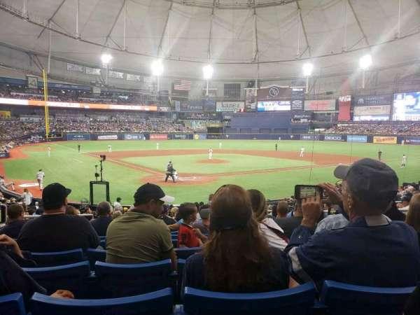 Tropicana Field, secção: 104, fila: AA, lugar: 6