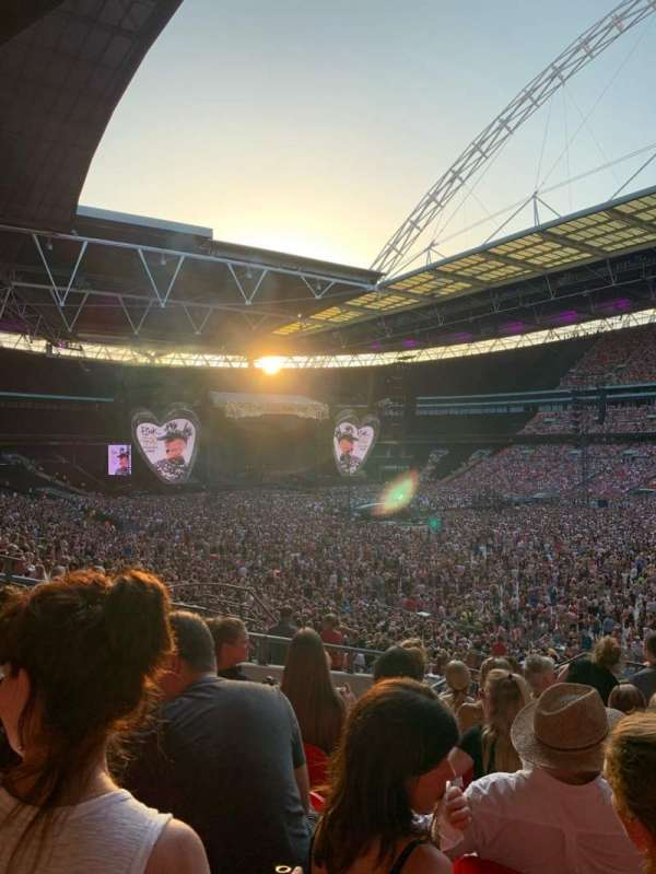 Wembley Stadium, secção: 118, fila: 40, lugar: 178