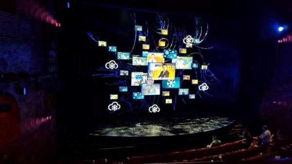 August Wilson Theatre, secção: Mezzanine L, fila: A, lugar: 13