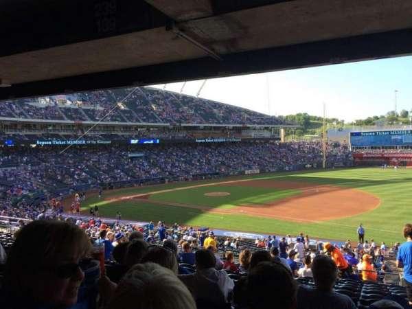 Kauffman Stadium, secção: 239, fila: PP, lugar: 11