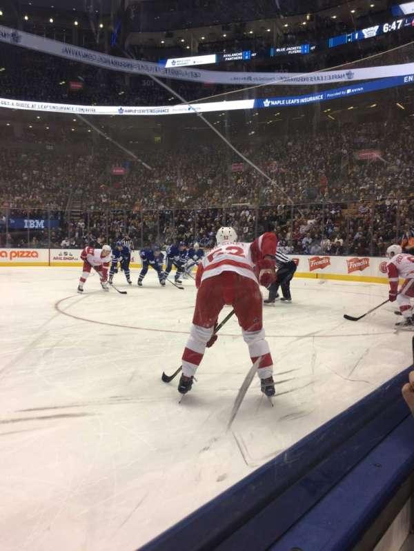 Scotiabank Arena, secção: 107, fila: 1, lugar: 18