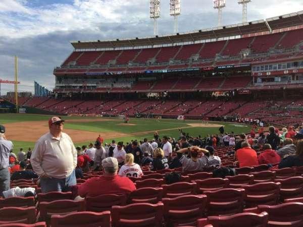 Great American Ball Park, secção: 113, fila: Y, lugar: 15