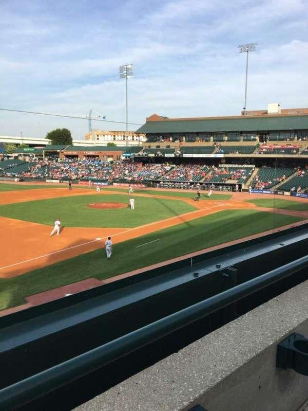 Louisville Slugger Field, secção: 223, fila: A, lugar: 4