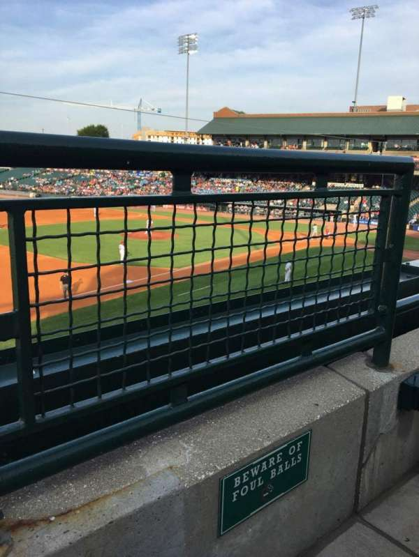 Louisville Slugger Field, secção: 223, fila: A, lugar: 1