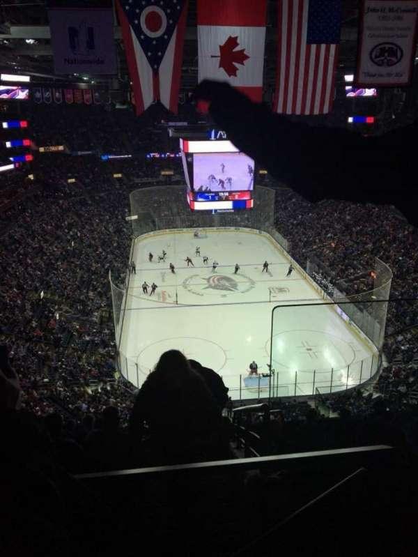 Nationwide Arena, secção: 211, fila: K, lugar: 1