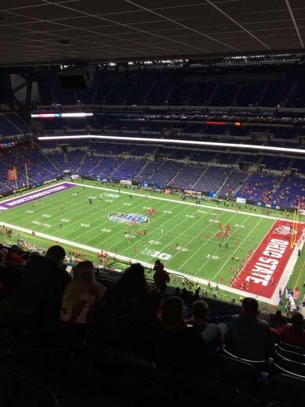 Lucas Oil Stadium, secção: 635, fila: 18, lugar: 15