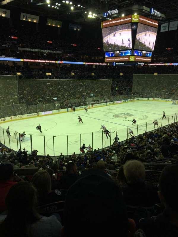 Nationwide Arena, secção: 117, fila: GG, lugar: 4