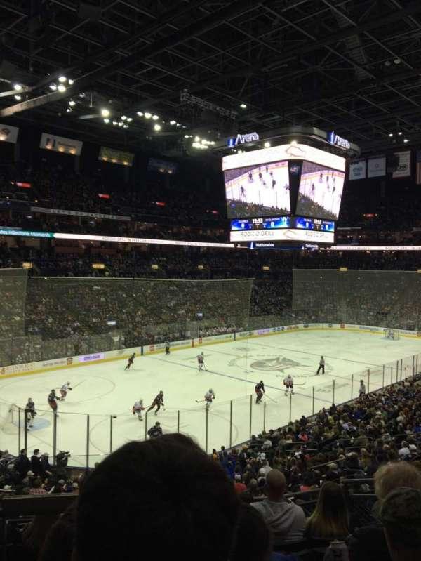 Nationwide Arena, secção: 117, fila: GG, lugar: 5