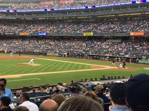 Yankee Stadium, secção: 126, fila: 10, lugar: 5