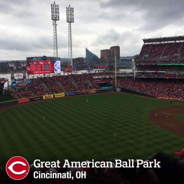 Great American Ball Park, secção: 111, fila: O, lugar: 4
