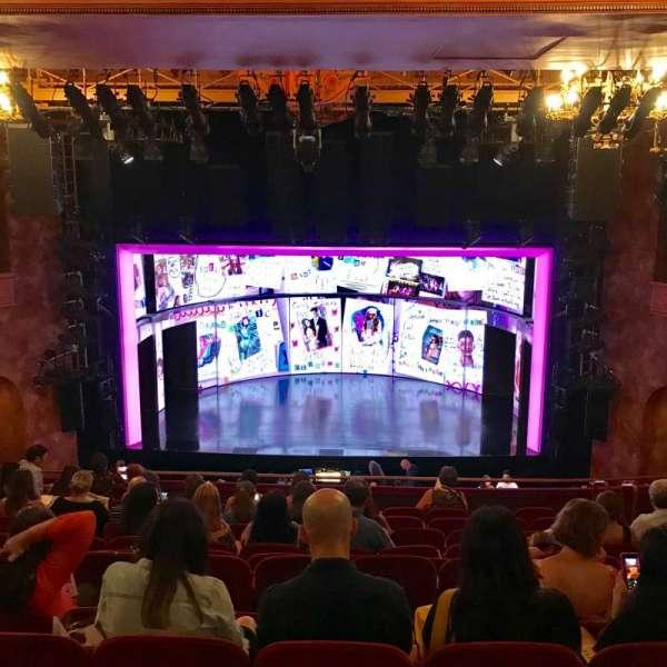 August Wilson Theatre, secção: Mezzanine C, fila: L, lugar: 106