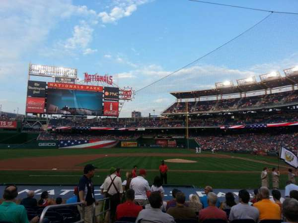 Nationals Park, secção: 117, fila: N, lugar: 17