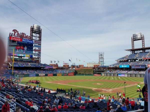 Citizens Bank Park, secção: 125, fila: 27, lugar: 8