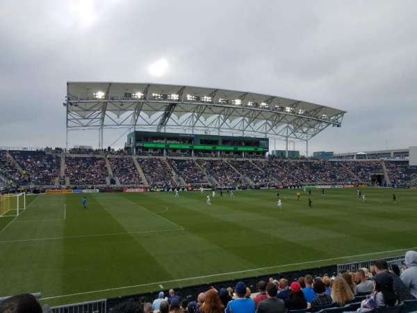 Talen Energy Stadium, secção: 132, fila: N, lugar: 16