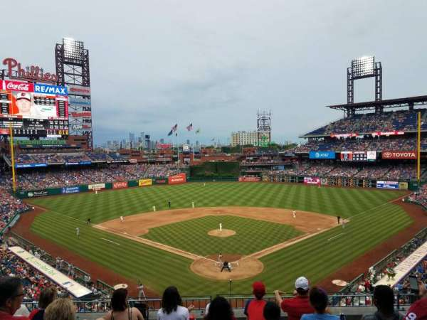 Citizens Bank Park, secção: 222, fila: 6, lugar: 16