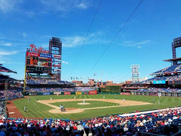 Citizens Bank Park, secção: 122, fila: 27, lugar: 3