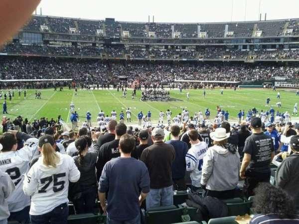 Oakland Coliseum, secção: 143, fila: 23, lugar: 5