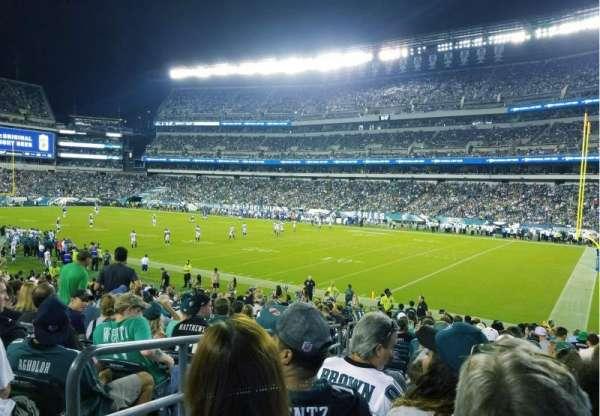 Lincoln Financial Field, secção: 106, fila: 20, lugar: 24