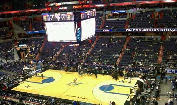 Capital One Arena, secção: 419, fila: A, lugar: 1