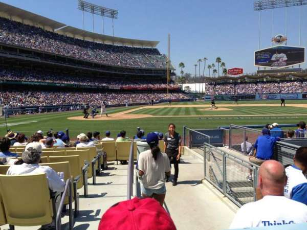 Dodger Stadium, secção: 12FD, fila: B, lugar: 9