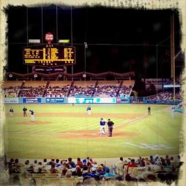 Dodger Stadium, secção: 3FD, fila: J, lugar: 3