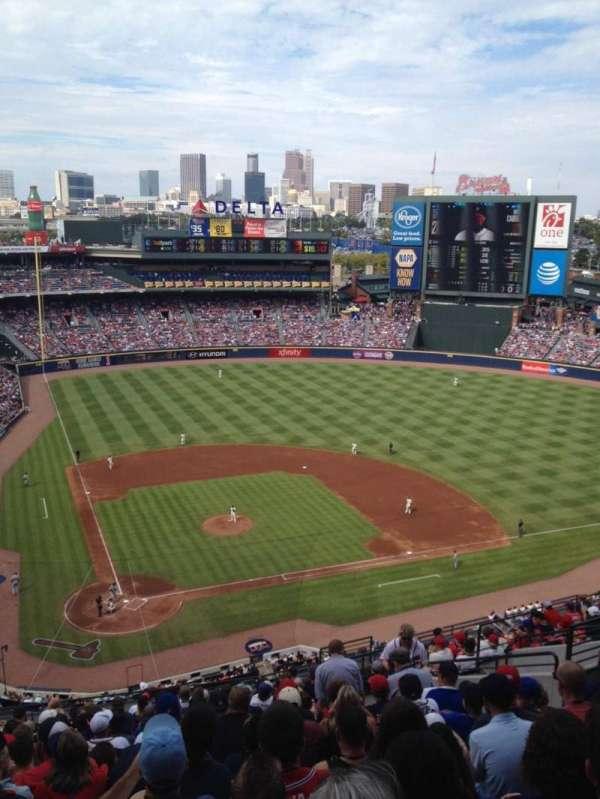 Turner Field, secção: 405, fila: 17, lugar: 12