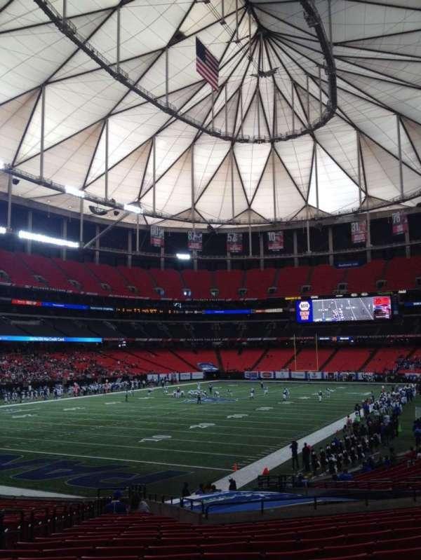 Georgia Dome, secção: 122, fila: 26, lugar: 5