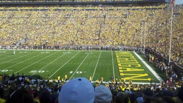 Michigan Stadium, secção: 20, fila: 35, lugar: 18