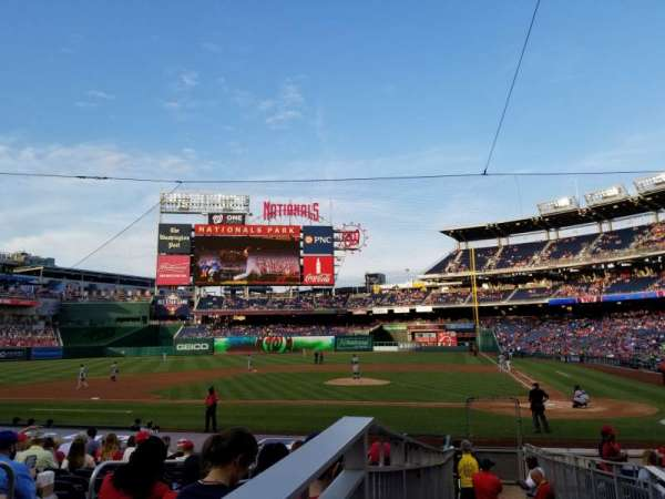 Nationals Park, secção: 118, fila: T, lugar: 3