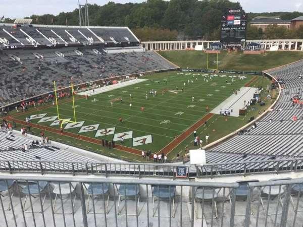 Scott Stadium, secção: 516, fila: F, lugar: 9