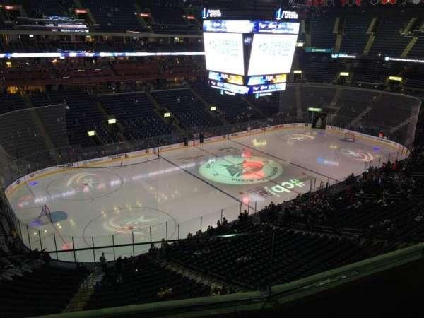 Nationwide Arena, secção: 206, fila: B, lugar: 4