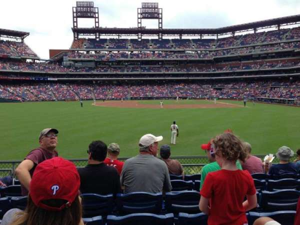 Citizens Bank Park, secção: 143, fila: 7, lugar: 15