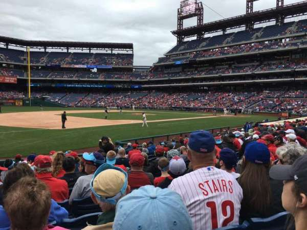 Citizens Bank Park, secção: 134, fila: 14, lugar: 8