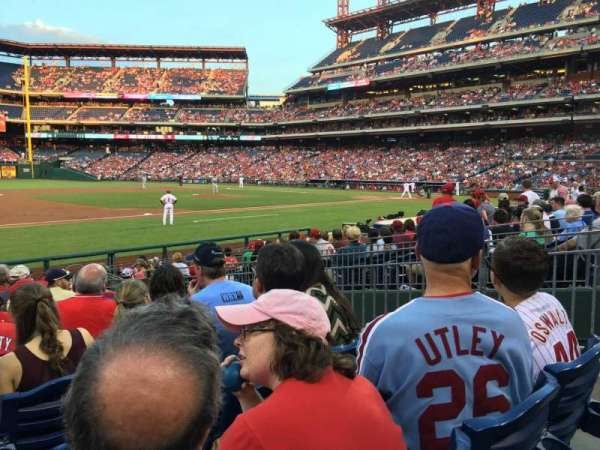 Citizens Bank Park, secção: 133, fila: 13, lugar: 5