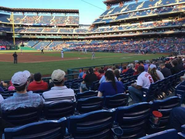 Citizens Bank Park, secção: 134, fila: 11, lugar: 5