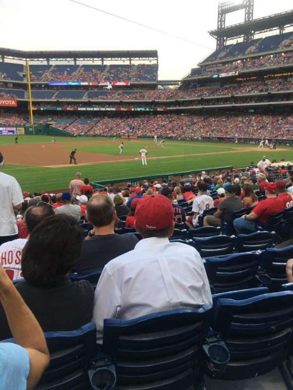 Citizens Bank Park, secção: 134, fila: 20, lugar: 7