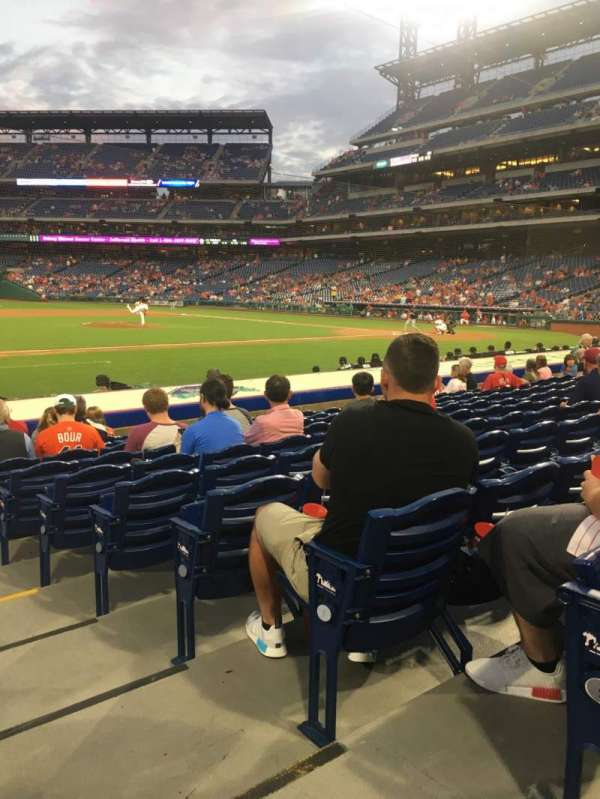 Citizens Bank Park, secção: 132, fila: 10, lugar: 1