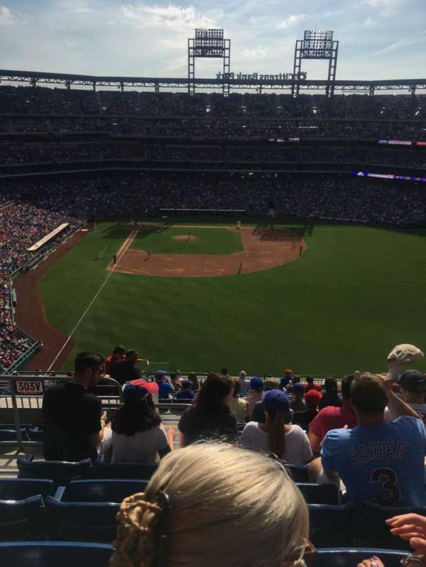 Citizens Bank Park, secção: 303, fila: 17, lugar: 22