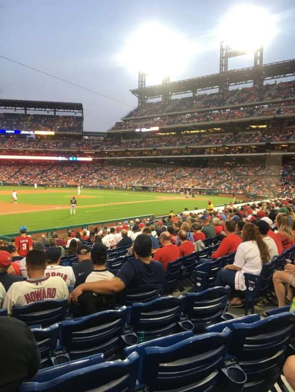 Citizens Bank Park, secção: 134, fila: 20, lugar: 6