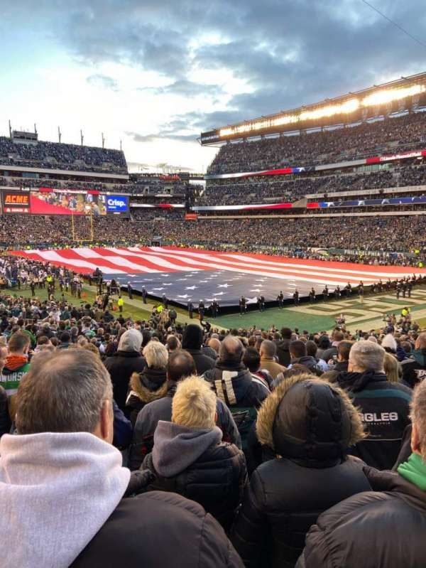 Lincoln Financial Field, secção: 126, fila: 26, lugar: 9