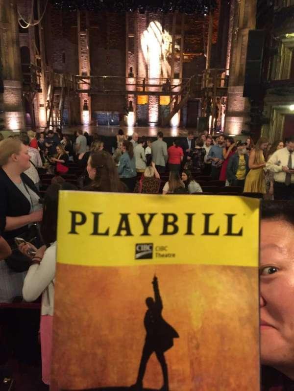 CIBC Theatre, secção: Orch C, fila: V, lugar: 111