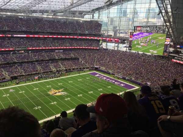 U.S. Bank Stadium, secção: 315, fila: 11, lugar: 26