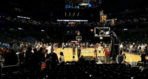 Barclays Center, secção: 1, fila: 4, lugar: 7