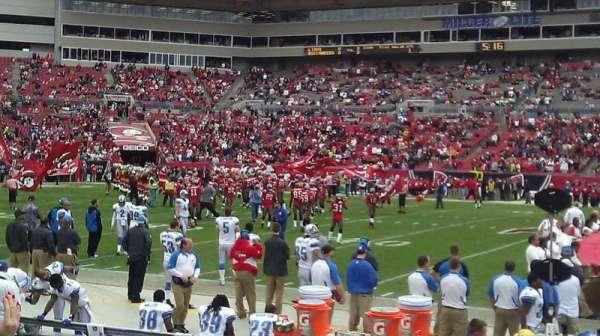 Raymond James Stadium, secção: 136, fila: E, lugar: 9
