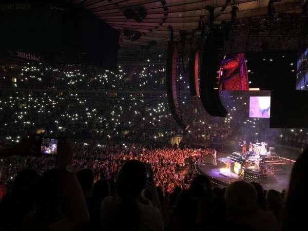 Madison Square Garden, secção: 109, fila: 21, lugar: 10