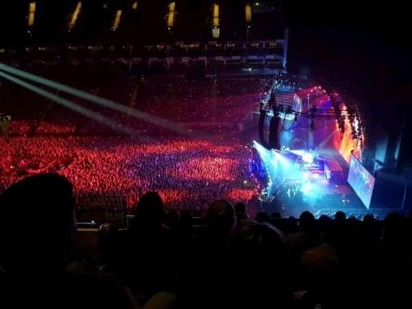 The O2 Arena, secção: 421, fila: L, lugar: 960
