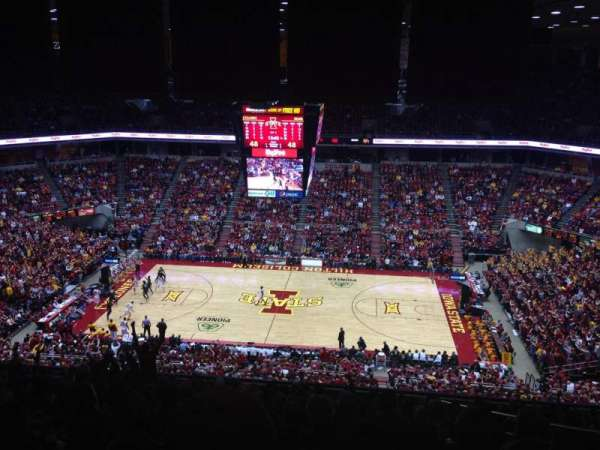 Hilton Coliseum, secção: 211, fila: 17, lugar: 5