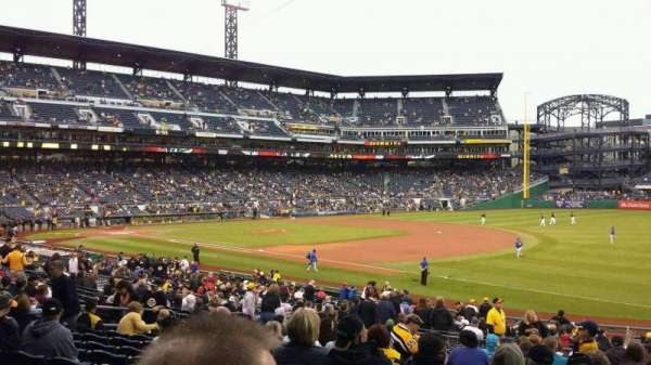 PNC Park, secção: 103, fila: T, lugar: 3