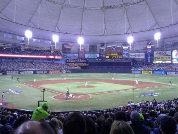 Tropicana Field, secção: 104, fila: GG